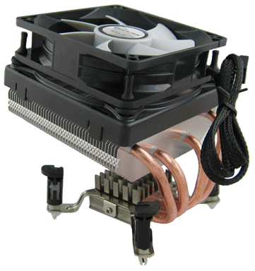 Quad Heatpipe CPU Cooler for Intel 775 and AMD AM2/ AM2 + Socket