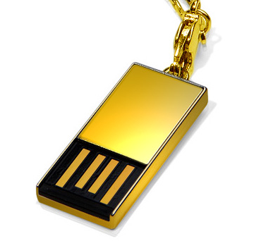 Super Talent Announces 18-Carat Solid Gold USB Drive