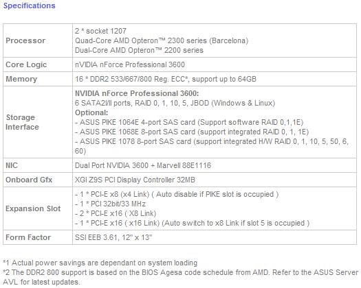 High Performance AMD Platform ASUS KFSN5-D Serverboard with Green Design for High Power Efficiency