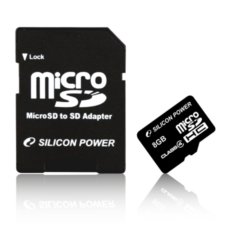 Silicon Power releases microSDHC Class 4 8GB card