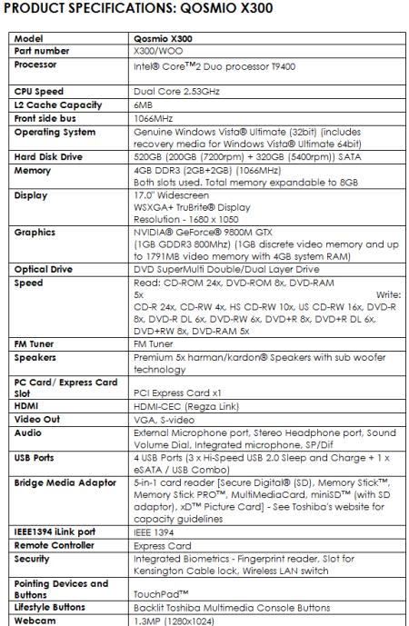 Toshiba PWNS the Gaming Battlefield with Scorching Qosmio X300