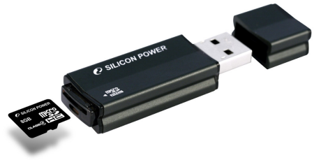 Silicon Power put microSD card reader on USB drive
