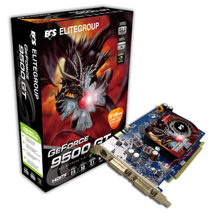 ECS GeForce 9500 GT Graphics Card