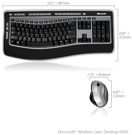 Microsoft Wireless Laser Desktop 6000