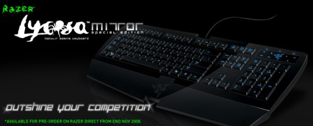 Razers Lycosa keyboard line-up refreshed