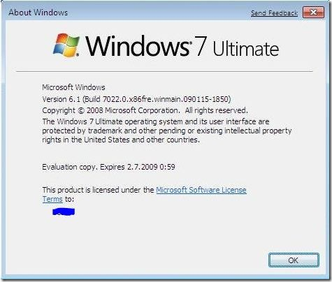 Windows 7's seen a couple Beta updates since Jan 7
