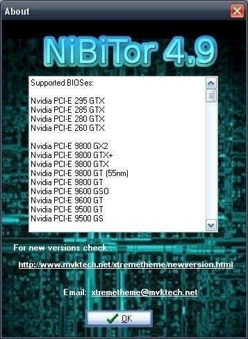 NVIDIA BIOS Editor (NiBiTor) 4.9 Released