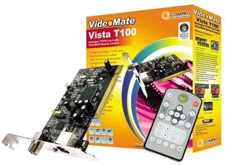 Compro launches VideoMate Vista T100 TV Tuner