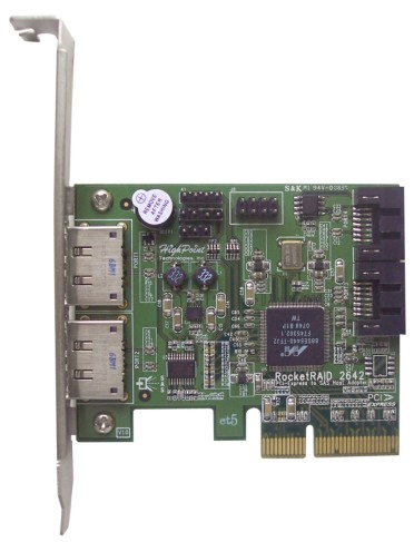 RocketRAID 2642 - Hybrid Low Cost / High Performing SAS/SATA RAID 5 Controller Released