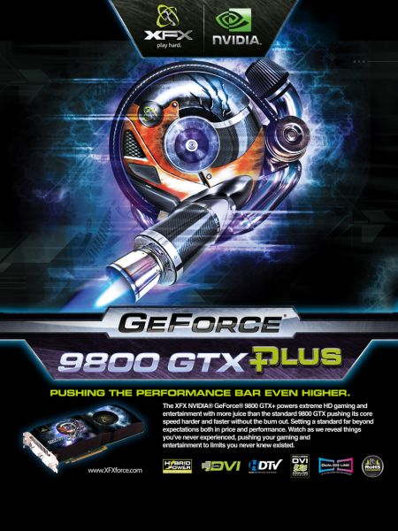 XFXforce GeForce 9800 GTX+ arrives