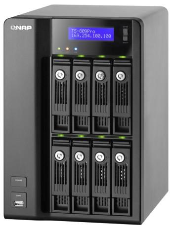 QNAP Unveils Intel Core 2 Duo, 8-bay, 16TB iSCSI NAS - TS-809 Pro