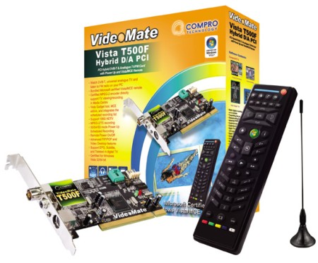 Having fun in your media center with Compro VideoMate Vista T500F