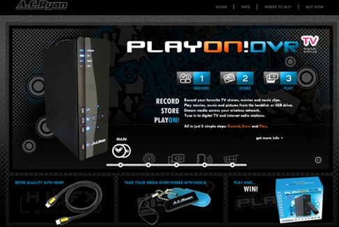 AC Ryan releases new microwebsite - PlayonDVR.com