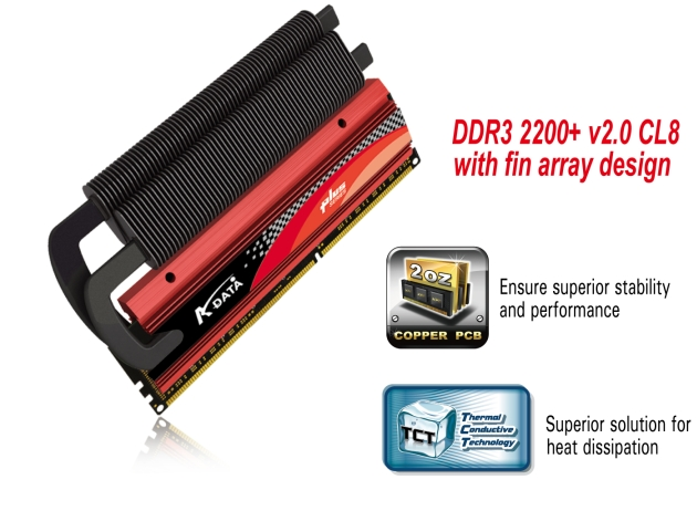 A-DATA® UNVEILS HIGHEST SPEED OF DDR3 DRAM MODULE IN THE INDUSTRY