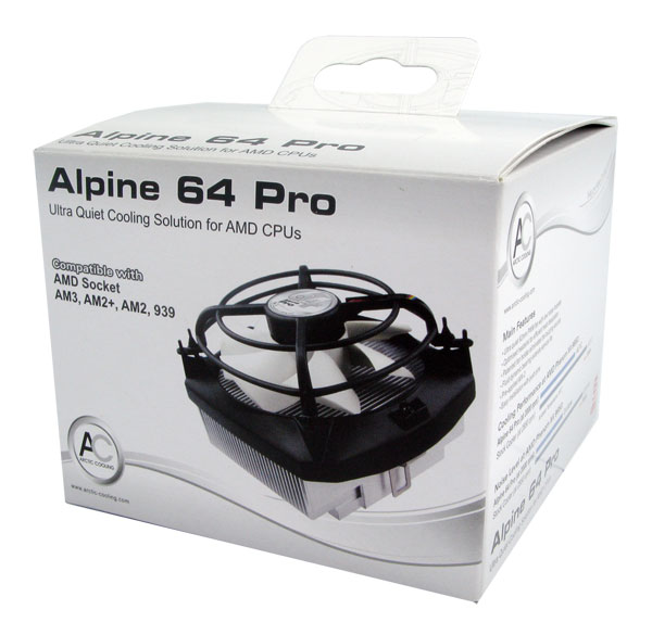 Alpine 64 Pro - Quiet Cooling Solution for AMD CPUs