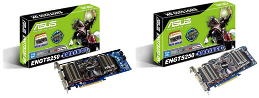 ASUS Launches Five GeForce GTS 250 Cards with Dark Knight Fans
