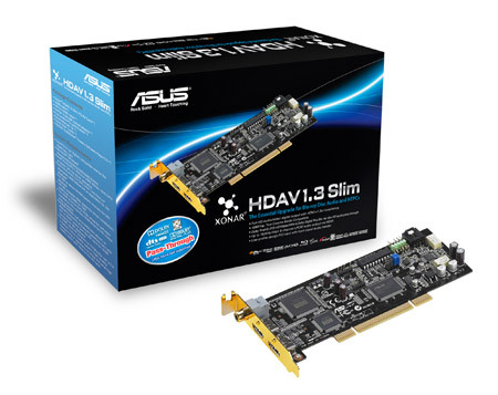 ASUS Unveils New Xonar HDAV1.3 Slim Sound Card