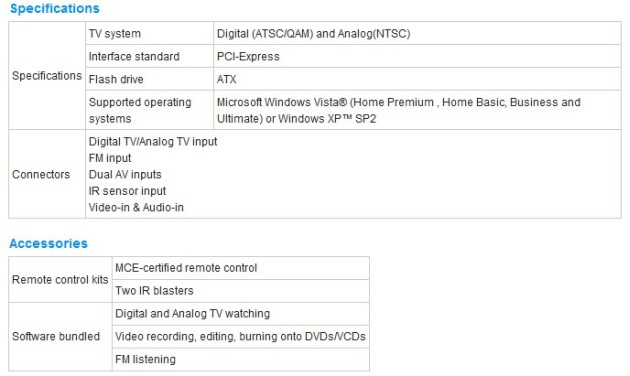 ASUS Announces My Cinema-EHD3-100/NQA/FM/AV/MCE RC Dual Hybrid TV Card