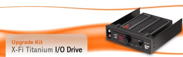 Auzentech Bulletin: X-Fi I/O Bay Titanium Available from Auz