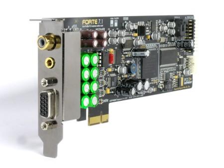 Auzentech Unveils X-Fi™ Forte 7.1 Native PCI Express® Soundcard