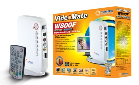 Compro VideoMate W800F - Big Entertainment in the Small Standalone Hybrid TV Box