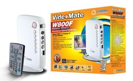 Compro VideoMate W800F - Big Entertainment in the Small Standalone Hybrid TV Box