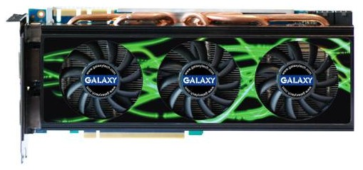 GALAXY custom GTX260+ tri-fans cooler with 1792MB Memory