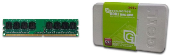 GeIL Green Series DDR2 - The Power Saving Memory