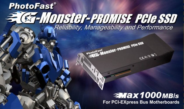 PhotoFast G-Monster-PROMISE PCI-E SSD unveiled - The 1st Practical SSD reach 1000 MB/s