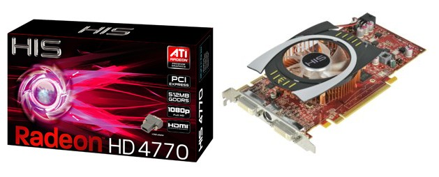 HIS unveils the HIS 4770 512MB (128bit) GDDR5 PCIe, featuring the world's 1st 40nm GPU and most advanced GDDR5 memory