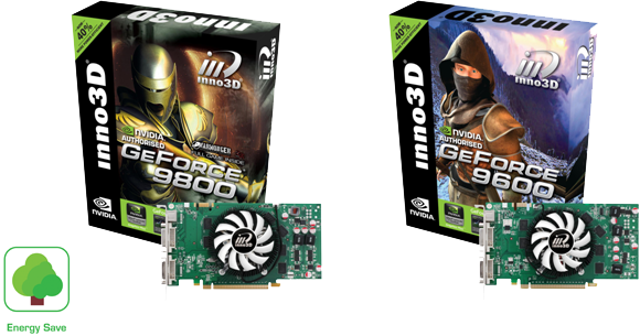 Inno3D Releases GeForce 9 Series Energy Save Editions