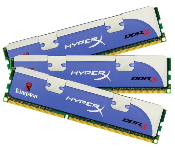 Kingston Technology First to Release 12GB Triple-Channel DDR3 HyperX 1600MHz