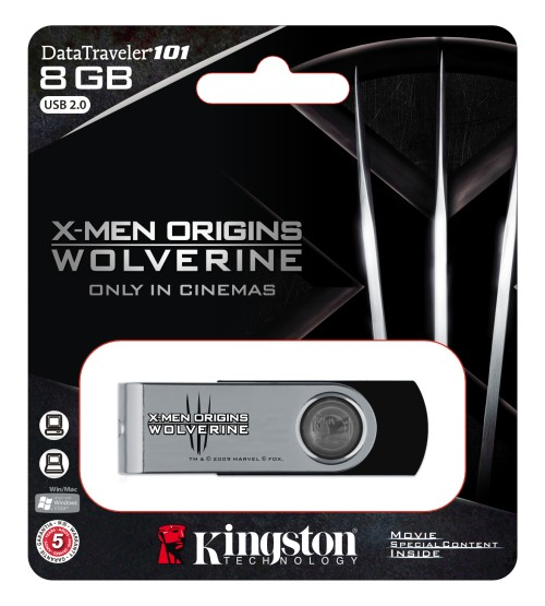 Kingston unveils [X-Men Origins: Wolverine] Special Edition USB Flash Drive and Memory Modules
