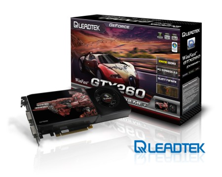 Leadtek launches new WinFast GTX260 EXTREME+ and all new packaging design for graphics series products
