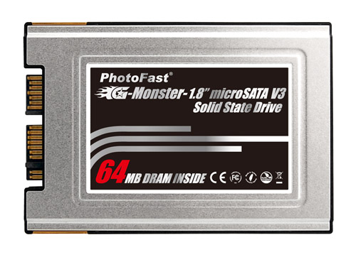 PhotoFast G-Monster 1.8 microSATA V3 SSD -- 64MB Cache DRAM INSIDE
