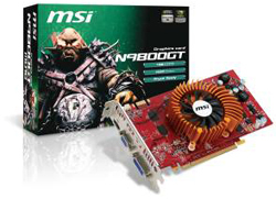 MSI Intros ''Green'' GeForce 9800 GT Video Cards