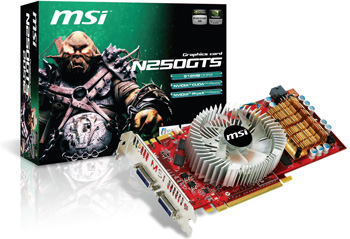 MSI unveils N250GTS Series graphics card