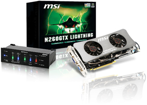 The next generation of overclocking graphics: MSI N260GTX Lightning