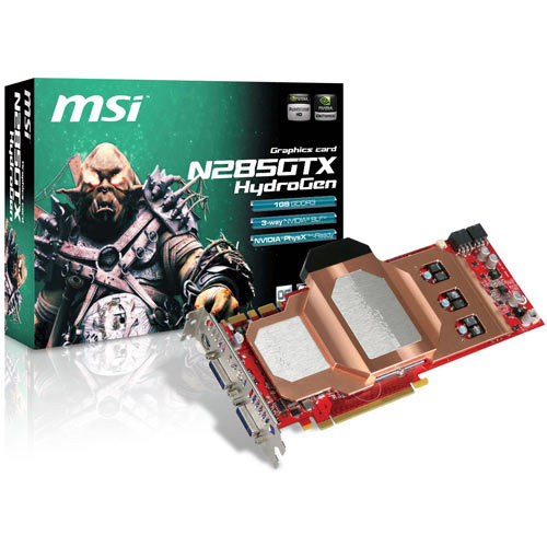 MSI Unveils N285GTX HydroGen Graphics Card