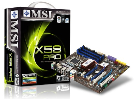 MSI Introduces X58 Pro Motherboard
