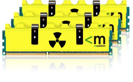 Mushkin Announces New 1600 MHz DDR3 Memory With Radioactive Heatspreaders