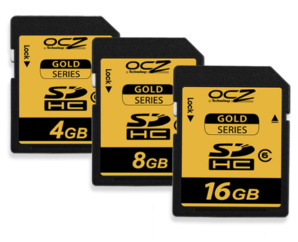OCZ Technology Introduces Premium Gold Series Secure Digital High Capacity (SDHC) cards