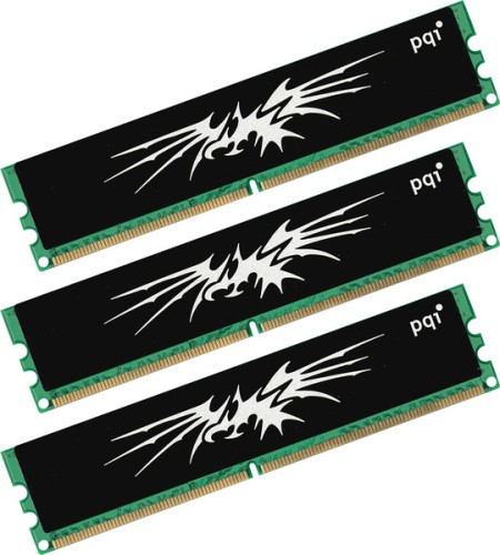 PQI Announces DDR3-1066 and DDR3-1333 Tri-Channel Memory Kits