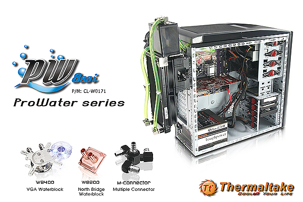 Thermaltake Unveils ProWater PW880i Water Cooling System