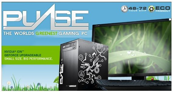 MAINGEAR Unveils Small, Green Pulse PC Based on NVIDIA ION