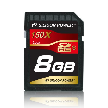 Silicon PowerTM introduces 8GB 150x SDHC Class 6 memory card for professionals