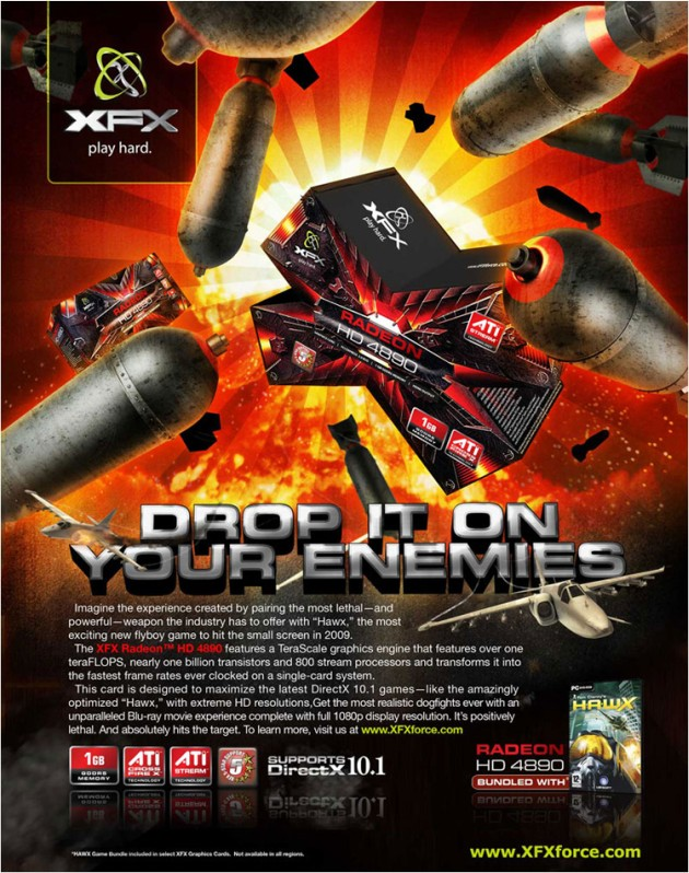 The XFX Radeon™ HD 4890 Graphics Processing Unit
