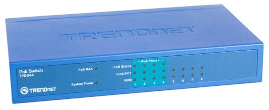 TRENDnet TPE-S44 8-Port 10/100 Power over Ethernet Switch
