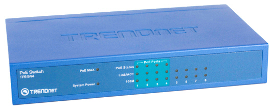 TRENDnet TPE-S44 8-Port 10/100 Power over Ethernet Switch