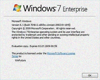 New Windows 7 Build Leaked To Torrent